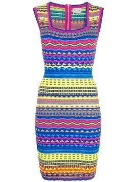 Milly graphic bodycon dress - Blue
