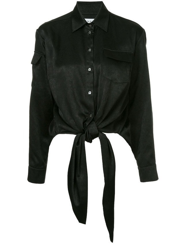 Osman tied waist shirt - Black