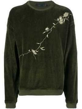 Haider Ackermann embroidered sweatshirt - Green