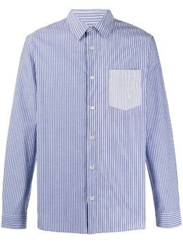 A.P.C. slim-fit striped shirt - Blue