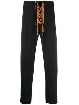 Just Cavalli lace-up trousers - Black
