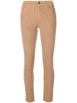 Twin-Set skinny corduroy trousers - Neutrals