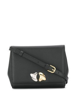 Little Liffner foldover top satchel bag - Black