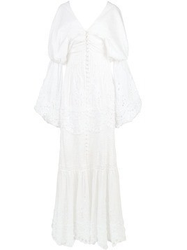Jonathan Simkhai embroidered off-the-shoulder dress - White