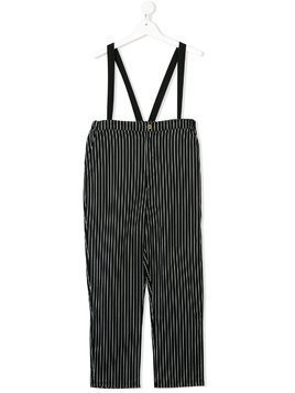 Little Creative Factory Kids TEEN striped dungarees - Black