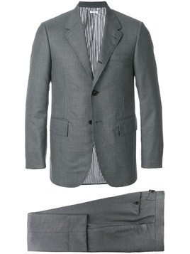 Thom Browne Wide Lapel Wool Twill Suit - Grey