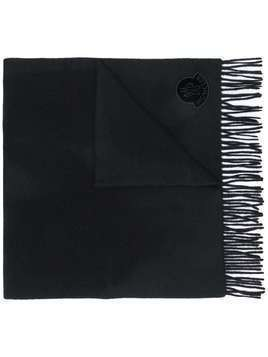 Moncler logo patch scarf - Black