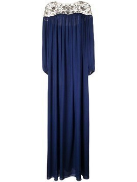 Marchesa tunic gown - Blue