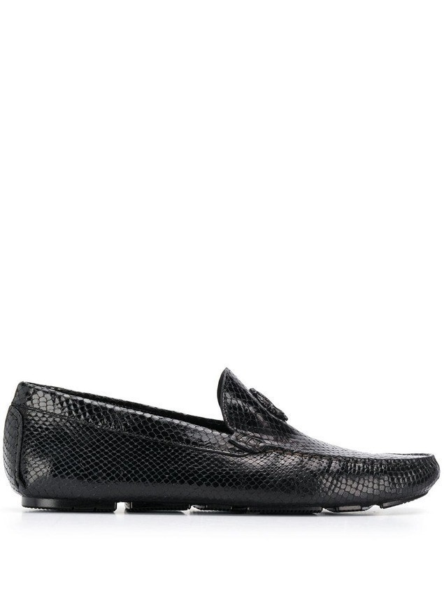 Roberto Cavalli Mirror Snake loafers - Black
