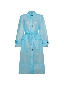 Calvin Klein 205W39nyc Plastic Belted trench Coat - Blue