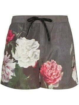 Soulland floral-print swim shorts - Brown