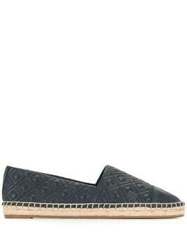 Tory Burch diamond-quilted espadrilles - Blue