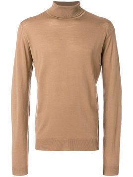 John Smedley roll neck sweater - Brown