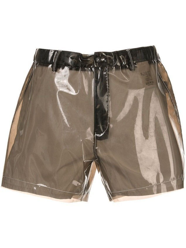 Nº21 transparent shorts - Black