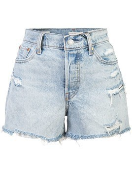 Levi's ripped denim shorts - Blue