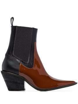 Haider Ackermann buffalo 60mm western boots - Brown