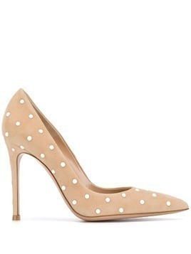 Gianvito Rossi pearl embellished pumps - Neutrals