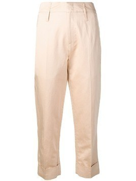 Tela slim cropped trousers - Pink