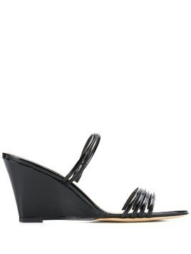 Kalda strappy wedge sandals - Black