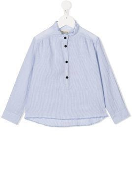 Zadig & Voltaire Kids printed striped blouse - Blue