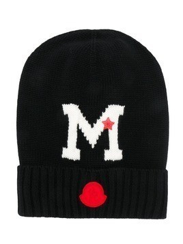 Moncler Kids M knitted hat - Black