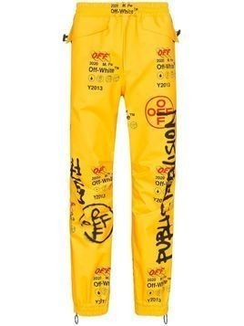 Off-White Industrial GORE-TEX track trousers - Yellow