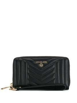 Michael Michael Kors quilted-effect zip-around wallet - Black