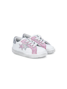 2 Star Kids star patches sneakers - White