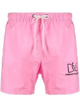 Duo Duo elasticated swim shorts - Pink