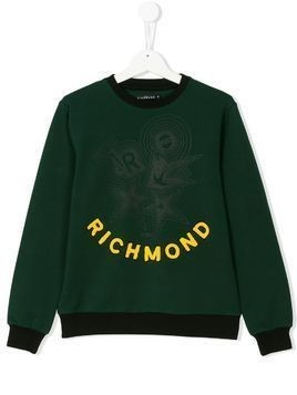 John Richmond Kids Teen Richmond logo sweatshirt - Green
