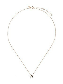 Ef Collection 14kt gold diamond star necklace - Bronze