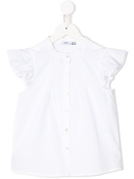 Knot Concha short sleeve blouse - White