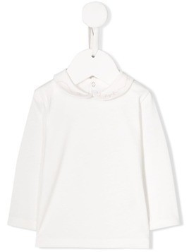 Il Gufo Peter Pan collar top - White