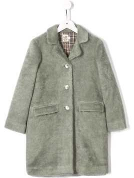 Caffe' D'orzo textured check lining coat - Green