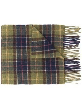 Barbour tartan knitted scarf - Green