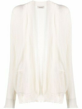 Laneus distressed-effect cotton cardigan - White