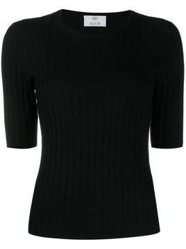 Allude shortsleeved knitted top - Black