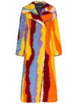 Angel Chen striped long coat - Multicolour