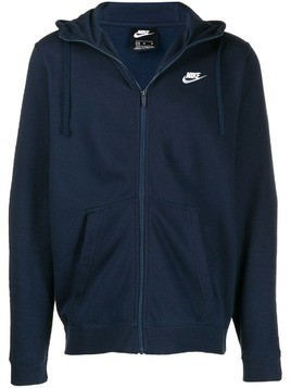 Nike embroidered logo jacket - Blue