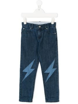 Stella Mccartney Kids lightning patch jeans - Blue