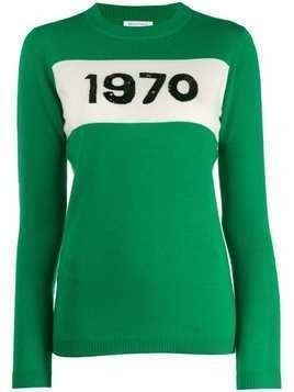 Bella Freud 1970 sequin jumper - Green