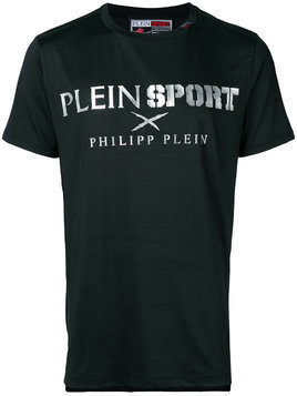 Plein Sport logo patch T-shirt - Black