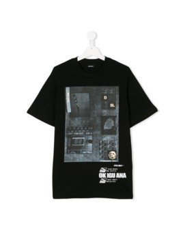Diesel Kids Twir Over T-shirt - Black