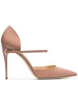 Jennifer Chamandi nude Eric 105 patent leather pumps - Neutrals