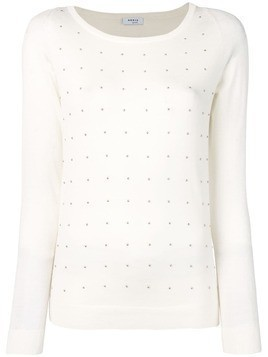 Akris Punto bead embellished knitted top - White