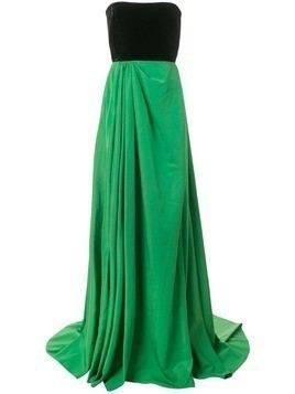 Alex Perry Dalton strapless gown - Green