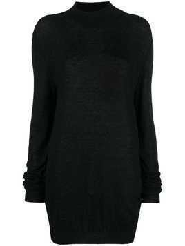 Ann Demeulemeester oversized high-neck sweater - Black