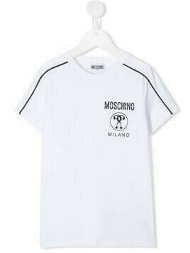 Moschino Kids logo-print T-shirt - White