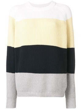 6397 striped round neck jumper - Yellow