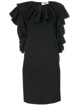 MSGM sleeveless ruffle dress - Black